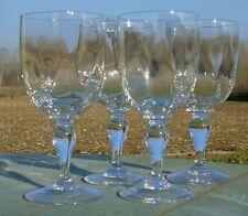 Thouvenin? Portieux? Lot de 4 verres à eau verre soufflé. Début Xxe s.