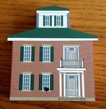 Lot#g Wood Cat'S Meow Captain'S House Dresden Ohio 96 Country Collectors Decors