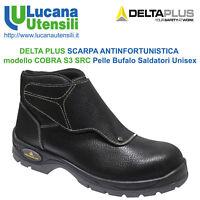 DELTA PLUS SCARPA ANTINFORTUNISTICA SALDATORI modello COBRA S3 SRC Pelle Unisex