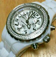 TechnoMarine DTC55C Lady 200m Diamonds Ceramic SWISS Quartz Chrono Watch Hours