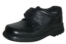 Hush Puppies Boys Black Leather  School Shoes Size 9 Attack
