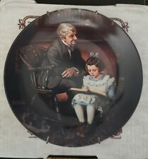 The Young Scholar by Normal Rockwell Collector Plate (Edwin M Knowles)