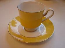 Mokkatasse mit Untertasse, gelb mit Goldrand, Königl. pr. Tettau, mehrere