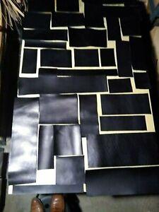 Scrap 9/10 OZ(3.6/4.0 mm) EUR Import VEGTAN Bridle Black Leather Square pcs...
