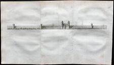 1791 - Gravure de la porte Cripplegate à Londres, London engraving