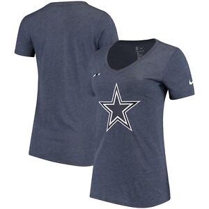 Women's Nike NFL Dallas Cowboys DNA Badge Tri-Blend Shirt Football Gift Dak NWT