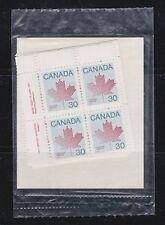Canada, 1982 Matched Corner Blocks of 4, Maple Leaf 923 MNH