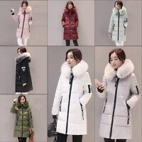Women's Ultra light Down Hooded Long Jacket Puffer Winter long Parka Coat ZN