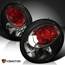 Fits 1998-2005 VW Beetle Black Rear Tail Lights Brake Lamps