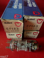 Ef183 6EH7 cv5831 mullard maille plaque new old stock Valve Tube 4 pc