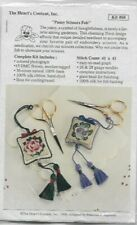 Pansy Scissors Fob Counted Cross Stitch Kit The Heart's Content, Inc Kit #68