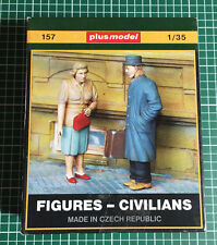 PLUSMODEL PLUS MODEL 157 - FIGURES CIVILIANS - 1/35 RESIN KIT