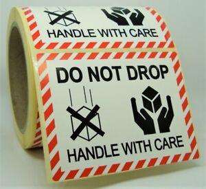 DO NOT DROP KEEP UPRIGHT Labels Stickers MEDIUM 100x75mm Packaging 100X75-DND