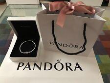 Genuine PANDORA Sterling Silver Clasp Bracelet 590702HV Size 20cm