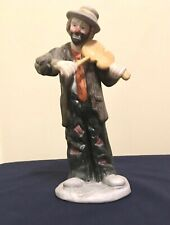 Emmett Kelly Jr~Clown Hobo Figurine Violin~No Strings Attached~Flambro 1984