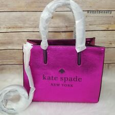 Kate Spade Trista Crinkle Patent Leather SHOPPER Convertible Pink