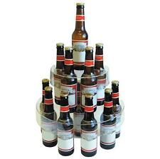 TRANSPARENTE Dos Niveles Botella de plástico Expositor bebidas Alcohol Bar BEER