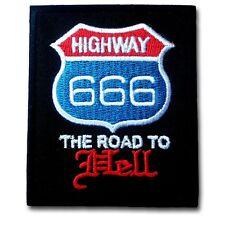 666 Highway Patch Iron on Satan Devil Chopper Biker Rider Vest Racing Punk Badge