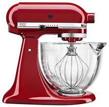 KitchenAid KSM105GBC 5 qt. Stand Mixer with Glass Bowl & Flex Edge Beater NIB