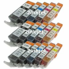 15 Pack Ink Cartridge for Canon CLI-221 PGI-220 PIXMA MP990 MX860 MX870