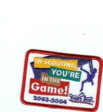 Boy Scout 2003-4 In Scouting you're in the Game  patch
