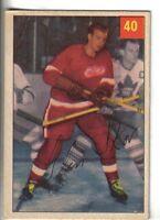 1954-55 Parkhurst Hockey Card #40 Glen Skov Detroit Red Wings VG/EX.