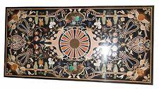 "60"" x 32"" Marble Center Dining Table Top Inlay Pietra Dura Handicraft Home Decor"