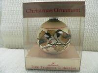HALLMARK ORNAMENT 1976 BIRDS OF WINTER---CHICKADEES---GLASS BALL---DATED