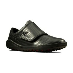 Clarks Boys Circuit Swift K Black Leather Casual Sport Trainers New UK Size 3 F