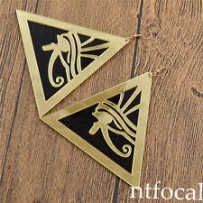 Triangle EYS Of Horus Acrylic Earring Symbol Egyptian Dangle Tribal Hooks