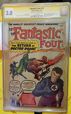 Fantastic Four #10 (1963) Signed by Stan Lee 3.0 CGC Cream to Off-White pages
