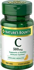 Nature's Bounty Pure Vitamin C Tablets 500mg, 100CT