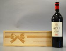 Personalised Bow - Wooden Wine / Spirit / Champagne Box
