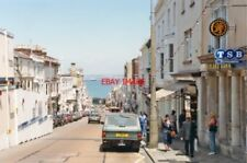PHOTO  ISLE OF WIGHT 1992 RYDE VIEW DOWN UNION ST. TO ESPLANADE AND SOLENT AND O