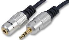 1m OFC Pro 3.5mm Jack a Jack de extensión macho-hembra estéreo AUX Audio Cable
