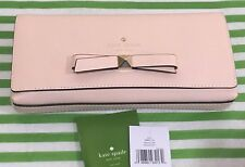 NWT Kate Spade Hancock Park Keira Clutch Wallet Bow Party Soft Rosetta Pink $248