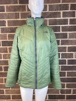The North Face Mossbud Green/Grey Insulated Reversible Women's Jacket Size M