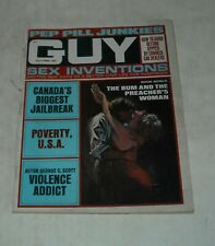 July 1969 GUY Men's MAGAZINE PEP PILL JUNKIES SEX INVENTIONS POVERTY USA CANADA