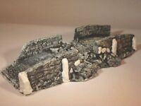 Wargames Scenery, Painted Damaged Bridge 20mm, 28mm, 40k. wargames Terrain.