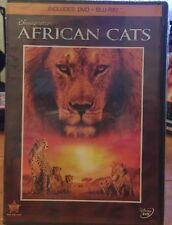 DISNEYNATURE AFRICAN CATS New Sealed DVD + Blu-ray Lions Cheetah Educational