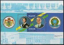 BRAZIL 1984 KING OF SWEDEN VISIT S/S MNH CV$6.00 ROYALTY