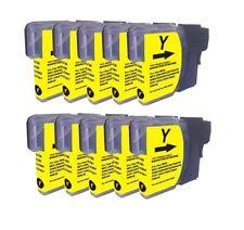 10 Druckerpatronen kompatibel  yellow für Brother LC980 DCP 195C