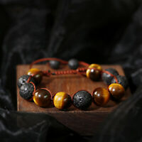 Women Men's Charm Bracelets Lava Tiger Stone Beads Yoga Fashion Luxury Jewelry