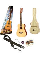 NEW Luna Guitars Safari Muse Spruce 3/4 Size Travel Acoustic Pack! World Ship!
