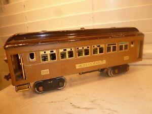 Lionel Prewar Standard Gauge Train 8-Wheel Tinplate #309 Two-Tone Brown Pullman