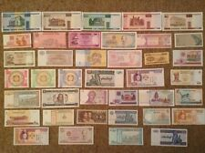 Lot of 39 banknotes. All different. All uncirculated