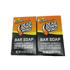 Dead Down Wind 1200N Scent Prevent Bar Soap (4.5 Ounce) Odor Eliminator Lot of 2