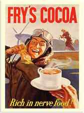 Metal Sign 1645 Frys Cocoa Airforce War Poster 1 1940S A5 8x6 Aluminium