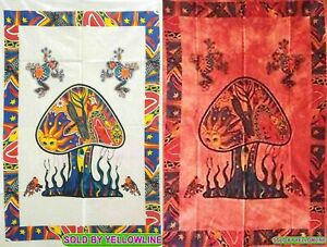 2 piece Mushroom Tapestry Bohomen Indian Wall Hanging Wholesale (77cmX102cm)WR-4