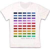 Fifty Shades of Gay Pride Mens Book Parody LGBT Rainbow Retro Unisex T Shirt 212